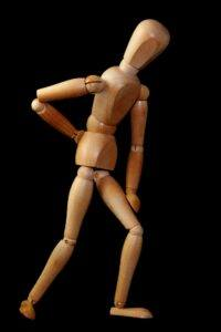 Figure with back pain
