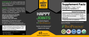 ROC108266-818 - HAPPY JOINTS Turmeric Organic + BioPerine