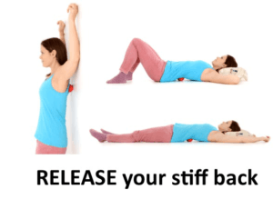 RELEASE your stiff back